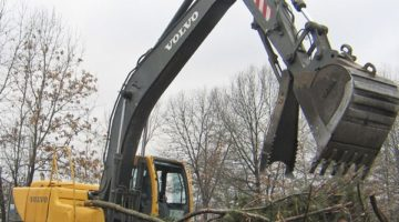 Johnson Ops - Excavator Moving Brush